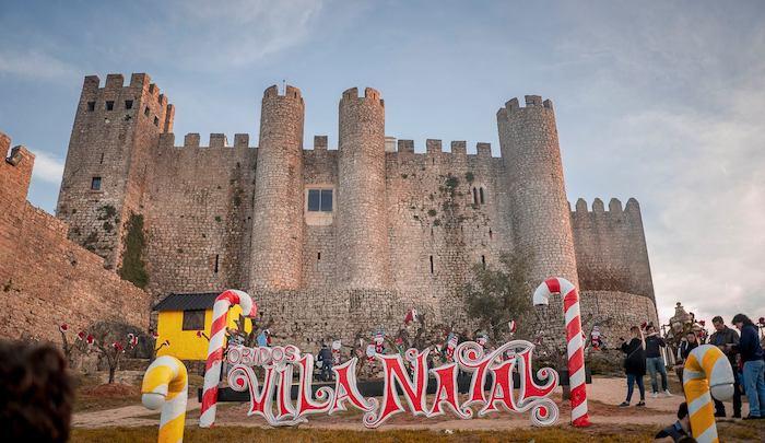 Navidad con niños en Óbidos, un pueblo de Portugal