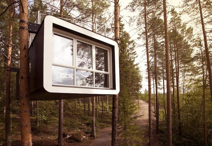 Dormir en los árboles, naturaleza con niños en Suecia