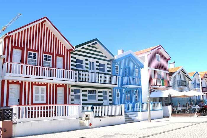 Costa Nova en Portugal y sus casitas de colores