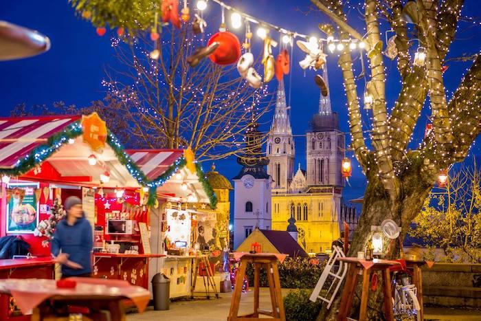 Zagreb con niños en Navidad