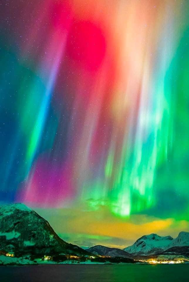 ver auroras boreales en el norte de Noruega