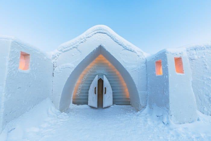 hotel de hielo Arctic SnowHotel en Finlandia