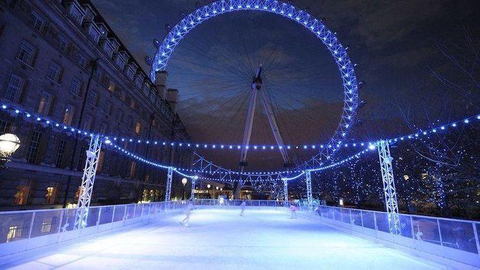 pista de patinaje sobre hielo Eyeskate en The London Eye