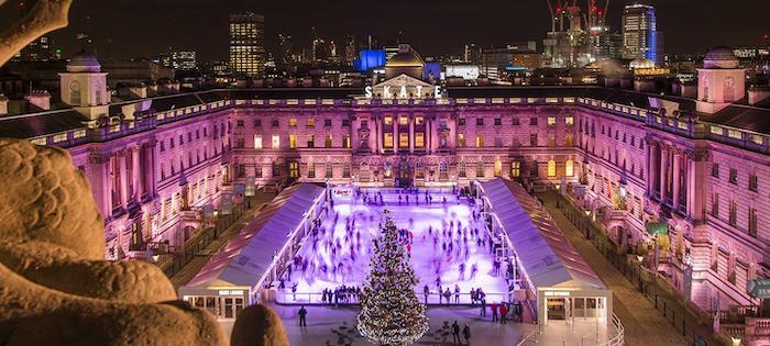 pista de patinaje sobre hielo Somerset House en Londres