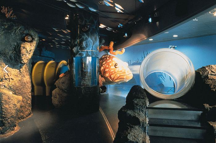 zona infantil acuario L'Aquàrium de Barcelona