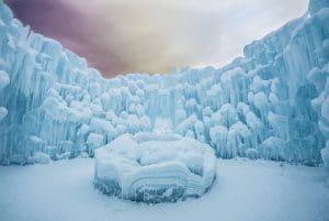Castillos de hielo en Canadá y Estados Unidos para visitar en invierno
