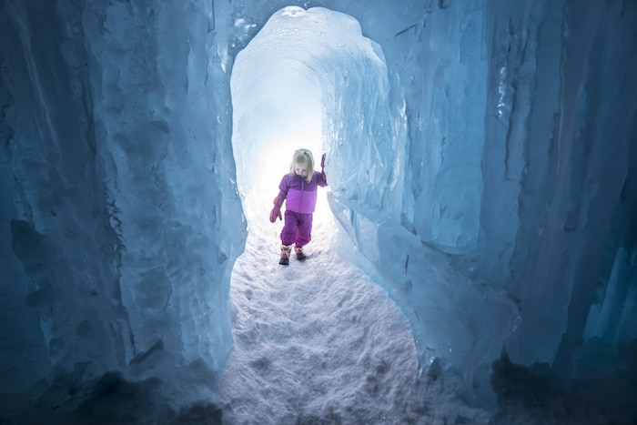 castillo de hielo Ice Castles con niños