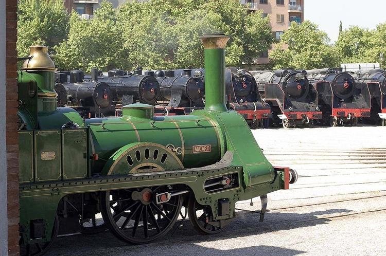 Museo del Ferrocarril de Cataluña con niños