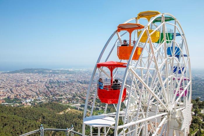 parque de atracciones Tibidabo con niños
