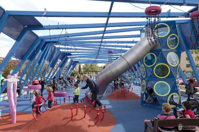 Parque infantil en Alcobendas, Madrid