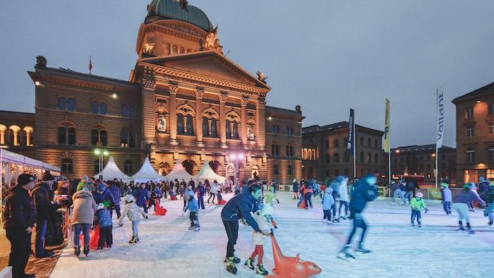 patinar sobre hielo en Berna, Suiza