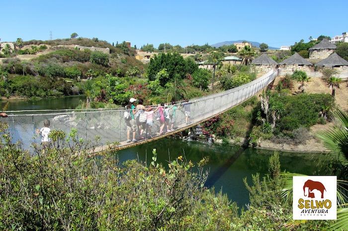 Puente colgante de Selwo Aventura Estepona