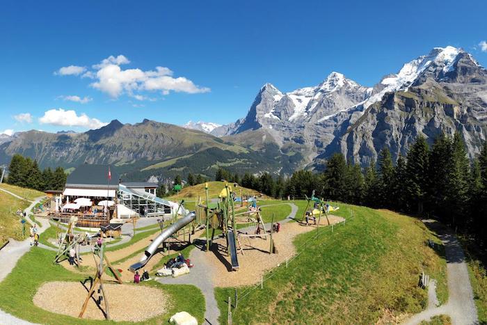 Pueblos de Gimmelwald y Mürren en Suiza