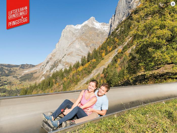 tobogán de montaña en Interlaken