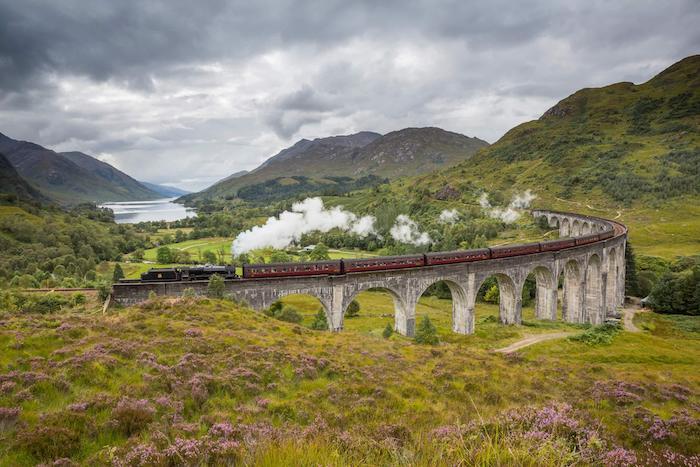 Recorrer Escocia con niños en tren