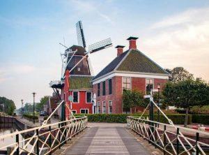 Dormir en un molino en Holanda con niños