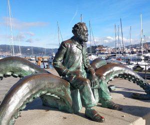 Monumento Julio Verne en Vigo