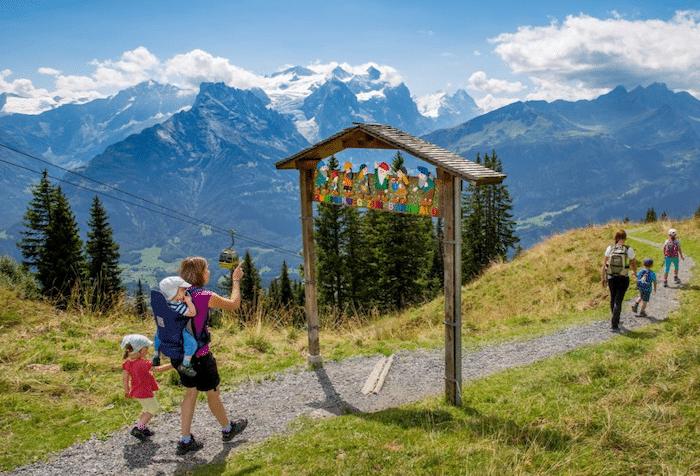 Rutas de senderismo en Suiza con niños