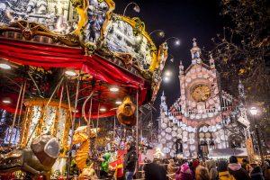 Bruselas con niños en Navidad